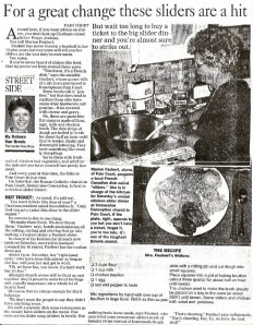 Mrs. Faubert's Sliders, Recipe for sliders or 'glissants' originating in Pain Court, Ontario, as it appeared in the London (Ontario) Free Press.