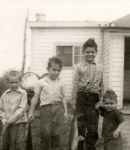 LaForest brothers, near Bay City, Michigan, circa 1962. Jesse LaForest on the right.