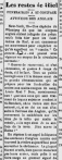 Report on the execution of Louis Riel, December 18, 1885 le Courrier de l'Ouest.