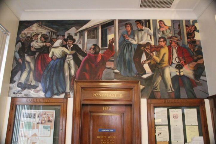 Post Office Mural, Ste. Genevieve, Missouri. For more information, see: http://livingnewdeal.berkeley.edu/projects/post-office-mural-ste-genevieve-mo/