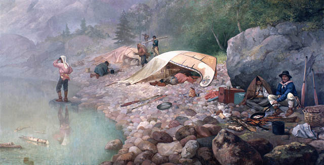 Frances Anne Hopkins, Voyageurs at Dawn, 1871, Source: LAC/BAC… C-002773