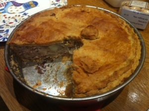 Tourtière or 'New Years Meatpie'. Photo by James LaForest.