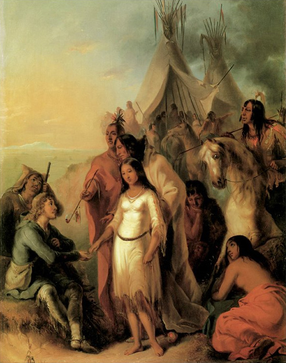 The Trapper's Bride, Alfred Jacob Miller, 1845