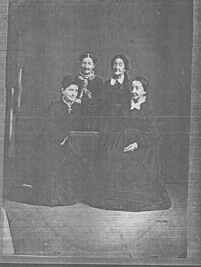 Beaugrand Sisters who escaped Frenchtown on the Momoney sleigh, circa 1860. Clockwise from upper left: Helene, Margaret, Julia, and Sophia