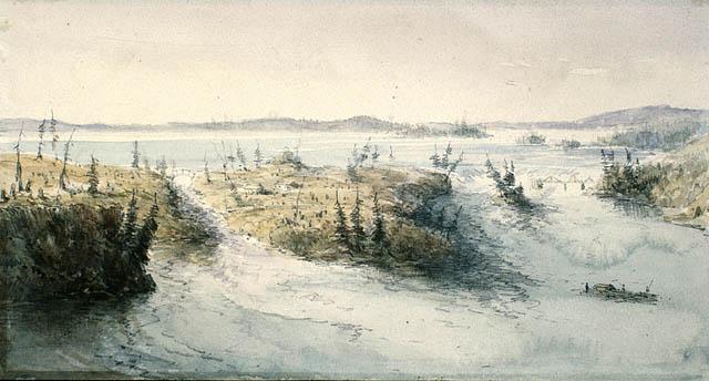 Chaudière Falls, 1838, Charles John Colville of Culross