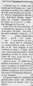Le Courrier de l'Ouest, July 4, 1885 Windsor/Detroit