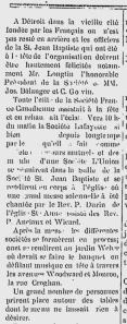 Le Courrier de l'Ouest, July 4, 1885 Windsor/Detroit