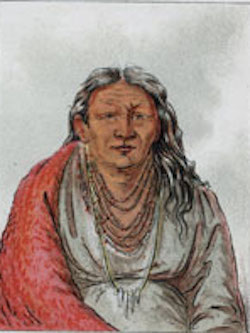 "Wah-pe-seh-see, Mother of Kee-Mon-Saw, Kaskaskia ""Little Chief"", 1830 by George Caitlin."