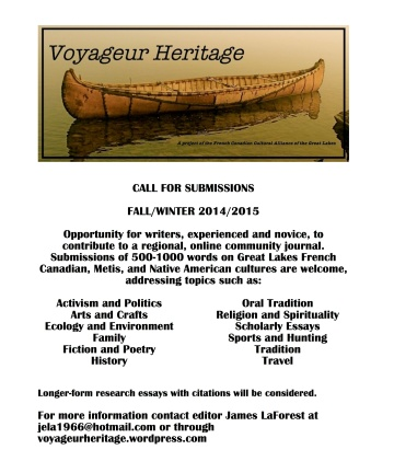 Voy Heritage CALL FOR SUBMISSIONS 2014 2015