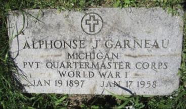 Alphonse J. Garneau, WWI. Courtesy of Shelly Garno.