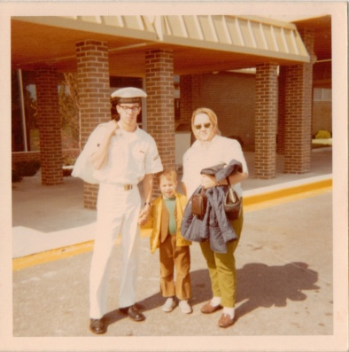 John LaForest, Tower, Michigan, US Coast Guard, Vietnam, with brother Jim and mother Beverly. Courtesy of James LaForest.
