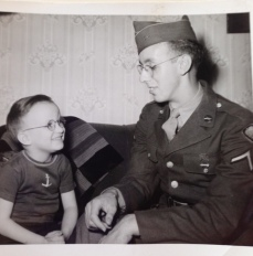 Lyle Evoe, Battle of the Bulge, POW, with nephew Larry Evoe. Courtesy of Dawn Evoe-Danowski.