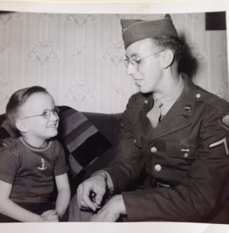 Lyle Evoe, Battle of the Bulge, POW, with nephew Larry Evoe. Courtesy of Dawn Evoe-Danowski.