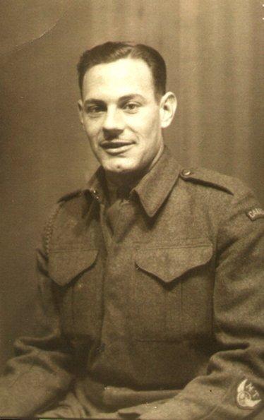 Ovide Bastien, Anderon Twp/Auld, Ontario KIA 1945. Courtesy of Renard Roux.