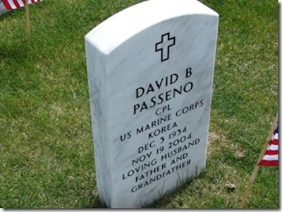 David B. Passeno, Cheboygan, Michigan, US Marine Corps, Korea. Courtesy of Marjorie Poirier Thibeault.