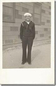 George L. Merchant, Cheboygan, Michigan, US Navy, WWII. Courtesy of Marjorie Poirier Thibeault.
