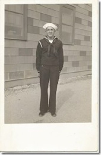 George L. Merchant, Cheboygan, Michigan, US Navy, WWII. Courtesy of Marjorie Poirier Thibeault.
