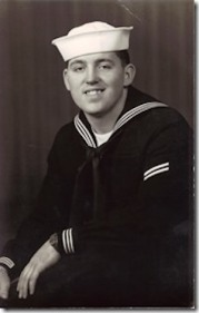 Gerald Bourdeau, Cheboygan, Michigan, US Navy. Courtesy of Marjorie Poirier Thibeault.