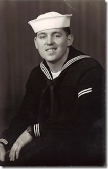 Gerald Bourdeau, Cheboygan, Michigan, US Navy. Courtesy of Marjorie Poirier Thibeault.