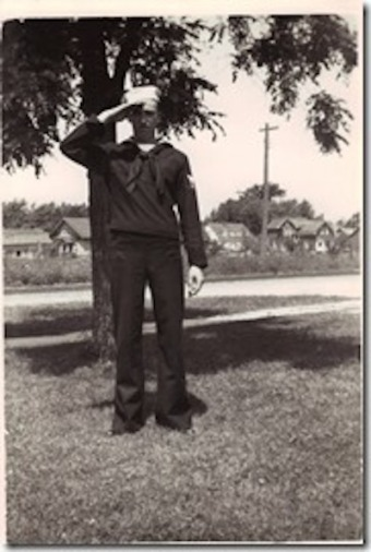 Lawrence Lacross, Cheboygan, Michigan, US Navy, WWII. Courtesy of Marjorie Poirier Thibeault.
