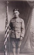 Medolph Paquette, Nadeau, Michigan, US Army, WWI. Courtesy of James Paquette.