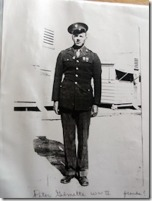 Peter Gilmette, Onaway, Michigan, US Army, WWII. Courtesy of Marjorie Poirier Thibeault.