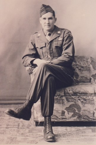 Robert Jerome LaJoice, St. Ignace, Michigan, United States Army 1945 1948 Airborne Buck Sergeant, Post War Japan, Courtesy of Steve LaJoice.