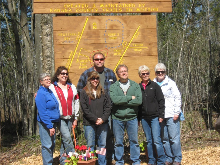 The Baraga County Trails in Motion team. Courtesy of Joe Bouchard.