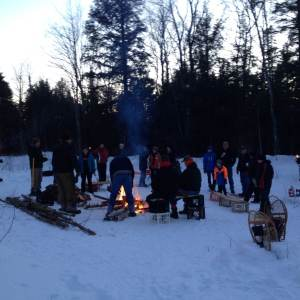 Snowshoeing with Sasquatch. Courtesy of Joe Bouchard.