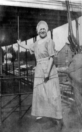 Jane as Hostess on the Elva