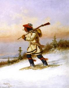Cornelius-Krieghoff-Indian-Trapper-on-Snowshoes-2-