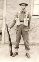 Ernest S. Desjardins. Maissoneuve Regiment, Montreal. Born in Espanola, Ontario. Battle of the Scheldt, Belgium. Received the Croix de Guerre de Belgique with Palm. Courtesy of son Gerrard Desjardins.