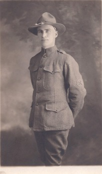 Elmer McPherson, WWI. Courtesy of James McPherson.