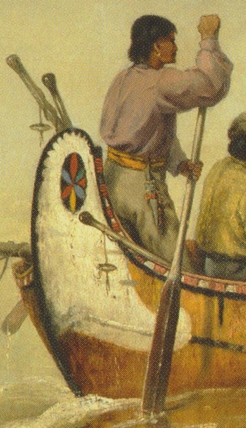 Detail from Frances Anne Hopkins, Canoes in a Fog, Lake Superior, 1869, Glenbow Museum, Calgary.