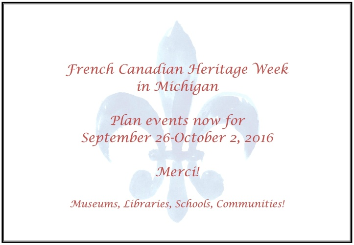 2016 French Canadian Heritage Week