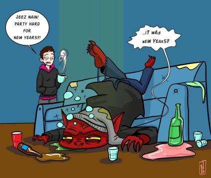 Nain Rouge New Years comic