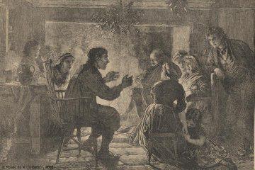 The Storyteller, Musée de la civilisation, Séminaire de Québec collection, L'Opinion publique, 1871, 1993.25327.1.