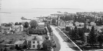 The harbor, St. Ignace, circa 1906 (Source: U.S. Library of Congress, American Memory Project)