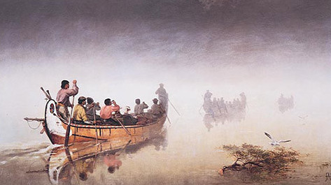 canoes-in-a-fog
