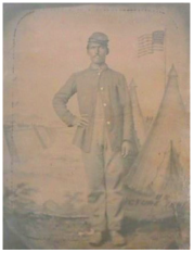 William Henry Blanchard 1846 - 1879. Civil War, 7th Cavalry, Company K. Courtesy of Theresa Weller.