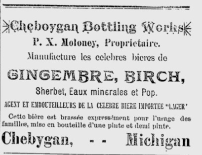 Cheboygan Bottling Works June 4, 1891 L'Union Franco-Americaine copy